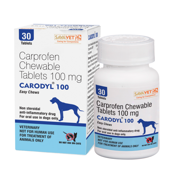 CARODYL 100MG ECOPACK (BOTTLE OF 30 CHEWABLE TABLETS)